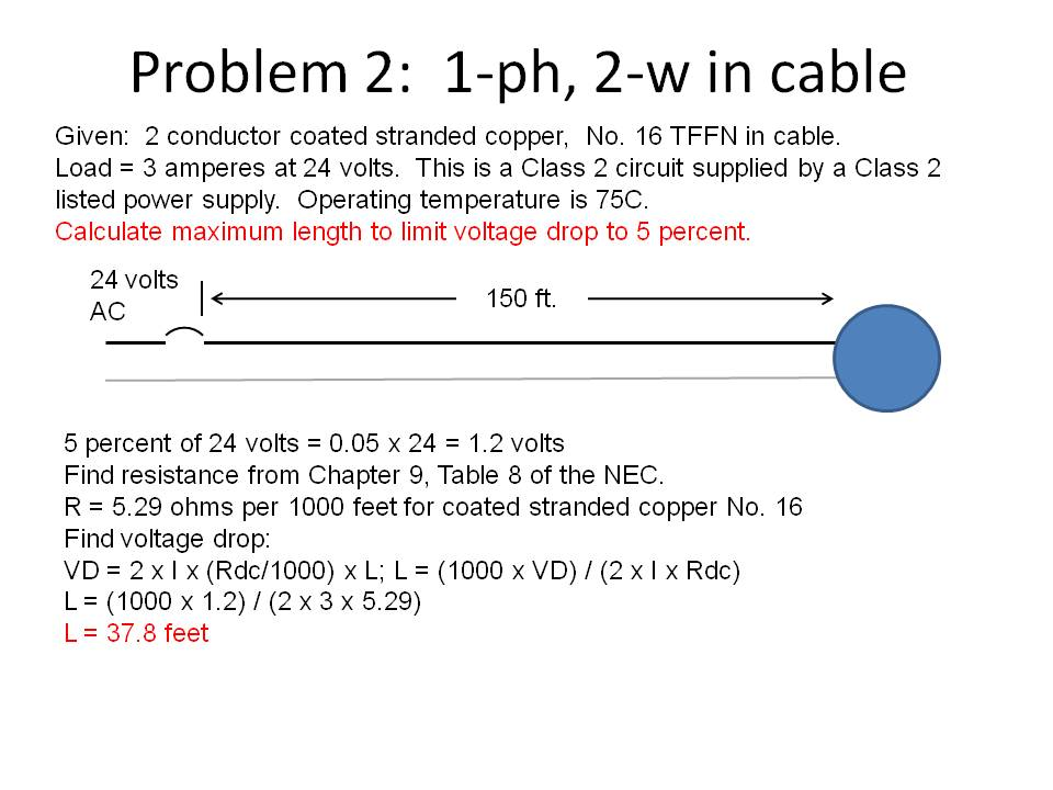 Voltage drop test 10 class 2 circuits that operate damper motors using 2 or 3 amperes have a very circuit length because of the voltage drop greentooth Image collections