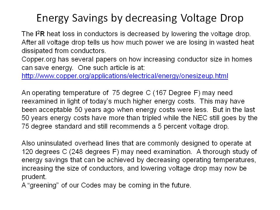 Voltage drop test 1 energy costs can be by decreasing voltage drop greentooth Image collections